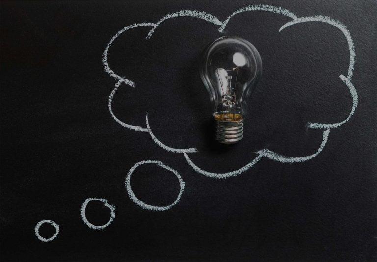 Be social not logical, lightbulb, ideas