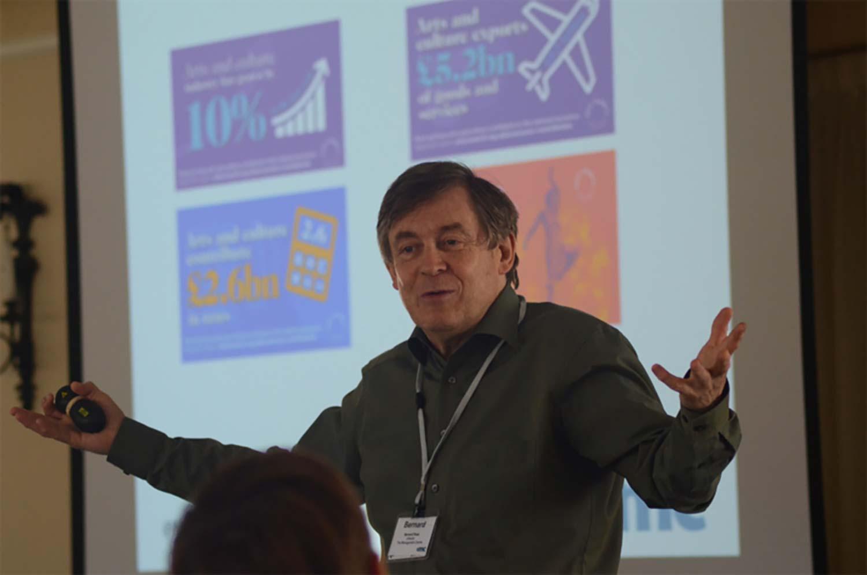 Bernard Ross in midst of giving a seminar